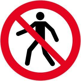 Panneaux d'interdictions ronds pas cher