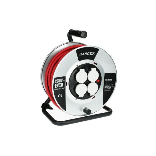Enrouleur électrique flasque acier 25 m H07RN-F 3G 2,5 mm² - HANGER - 600009 pas cher Secondaire 1 L
