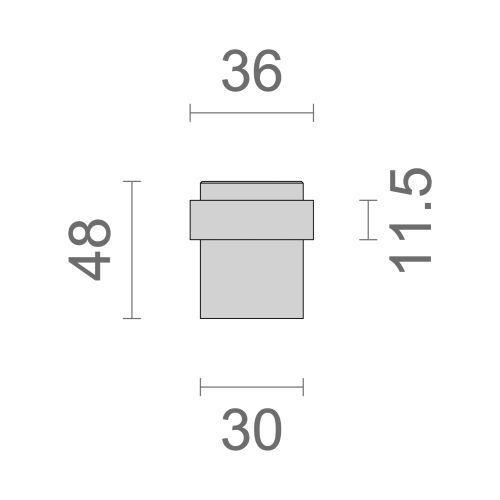 Butoir de sol aluminium Héraclès 3540 photo du produit Secondaire 3 L