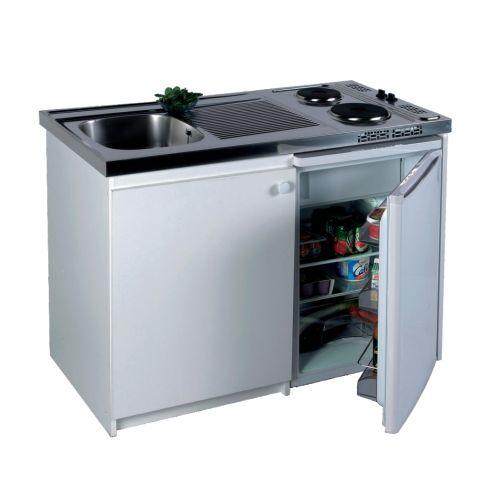 Kichenette electrique 90 x 60 plaque 2 feux Meuble et frigo 18/10 WH - FRANKE - 691516 pas cher