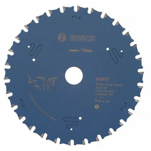 Lame de scie circulaire 160x20x1,6 mm pour le métal - 30 dents - BOSCH EXPERT - 2608643054 pas cher