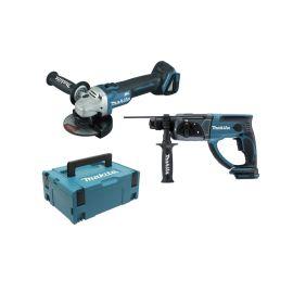 Pack de 2 outils DHR202+DGA504 18 V nus en coffret Makpac 2 pas cher