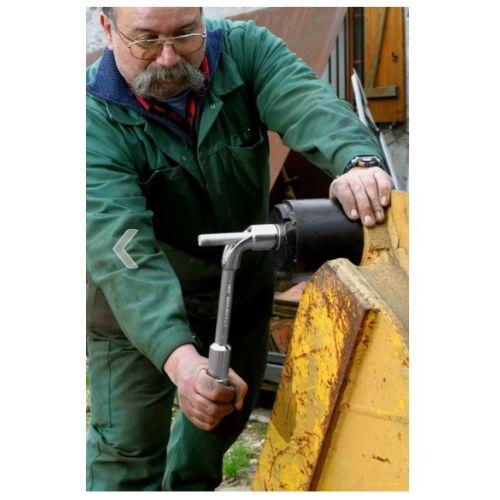 Clé à pipe débouchée 6 x 6 pans métrique diamètre 26mm longueur 270mm - FACOM - 75.26 pas cher Secondaire 1 L