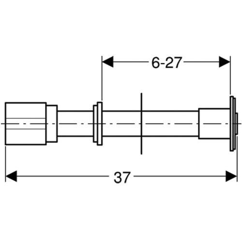 Poussoirs pneumatiques GEBERIT à encastrer photo du produit Secondaire 8 L