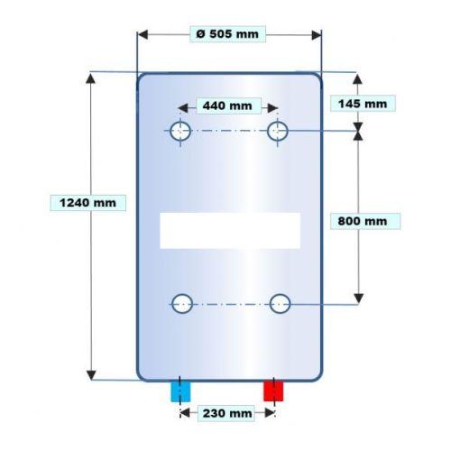 Chauffe-eau électrique vertical blindé photo du produit Secondaire 5 L