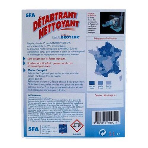 Détartrant nettoyant SFA 5 litres - SFA - DETFR pas cher Secondaire 2 L