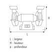 Touret à meuler Sidamo TM 150 photo du produit Secondaire 1 S