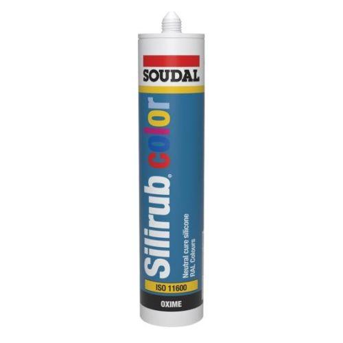 Mastic silicone neutre en couleurs RAL Silirub Color gris anthracite 310 ml RAL7016 - SOUDAL - 105831 pas cher Principale L