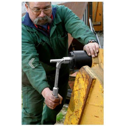 Clé à pipe débouchée 6 x 6 pans métrique diamètre 27 mm longueur 280 mm - FACOM - 75.27 pas cher Secondaire 1 L