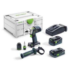Perceuse-visseuse sans-fil Festool Quadrive DRC 18/4 5,2/4,0 I-Plus 18 V + 2 batteries + chargeur photo du produit