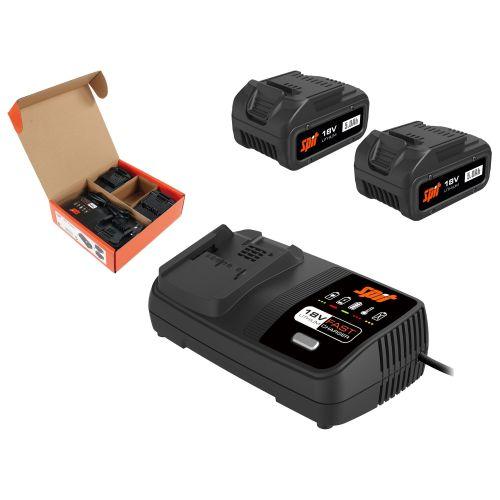Pack énergie 2 batteries Spit 18 V - 5 Ah + chargeur photo du produit Secondaire 1 L