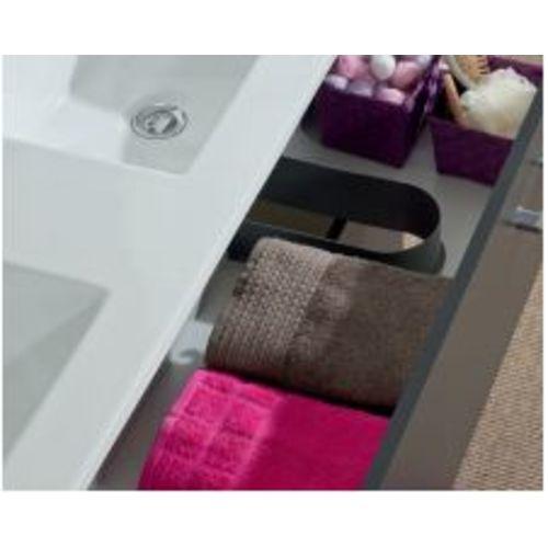 Meuble sous vasque NEOVA ANGELO L90 blanc brillant 2 tiroirs coulissants pas cher Secondaire 1 L