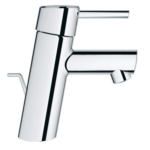 Mitigeur de lavabo CONCETTO II, mono-commande, mousseur, tirette et garniture de vidage, chromé photo du produit