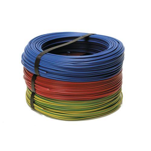 Fil rigide HO7 V-U 1.5mm² Vert/Jaune 100M - FILS & CABLES - 000105 (AAA) pas cher