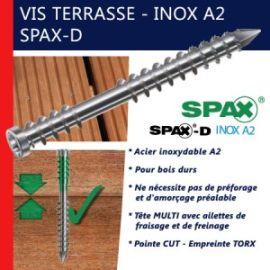 Vis pour terrasse, SPAX, inox A2 pas cher