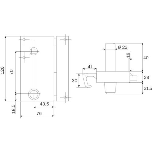 Serrure ZENITH 571 vertical tirage Cylindre de 40 gauche - ISEO - 25080405.5 pas cher Secondaire 2 L