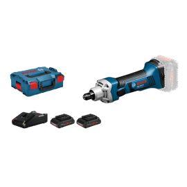 Meuleuse droite sans-fil Bosch GGS 18 V-LI Professional 18 V + 2 batteries 4 Ah + chargeur + L-Boxx pas cher Principale M