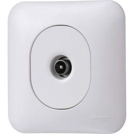 Ovalis - prise TV - fixation avec griffes - Blanc RAL9003 photo du produit Principale M