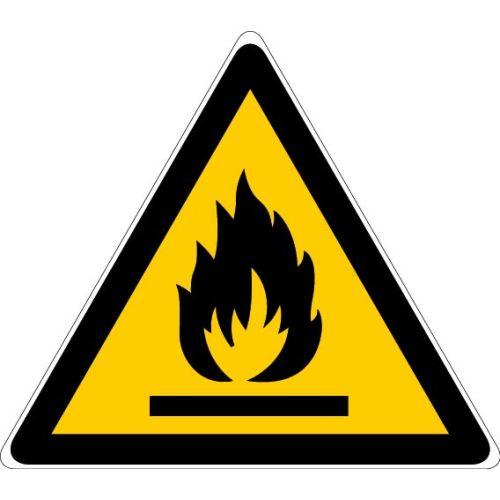 Adhésif triangulaire 100 mm 'Danger matières inflammables' - NOVAP - 4031989 pas cher Principale L