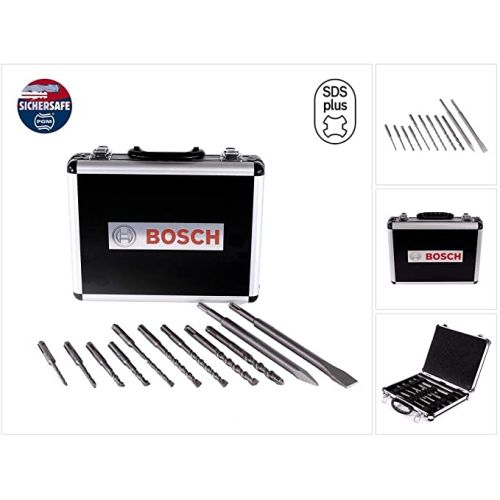 Coffret 11 pièces Bosch SDS+ Pic + Burin + 9 Forets 5/6/8/10/12 photo du produit