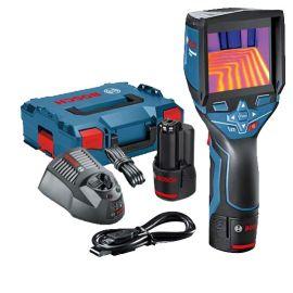 Camera thermique sans fil Bosch GTC 400 C + batterie GBA 12V + chargeur GAL 1230 CV + L-BOXX pas cher