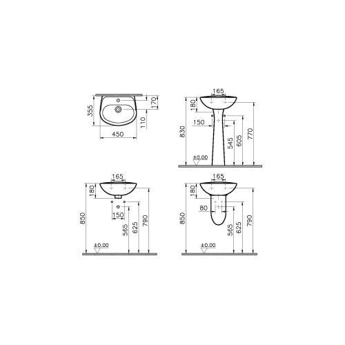 Lavabo gamme Normus VITRA photo du produit Secondaire 2 L