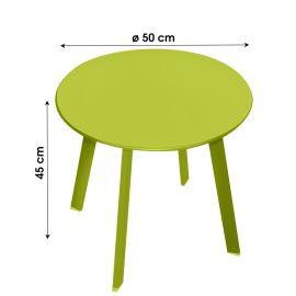 Table d'appoint ronde en métal D50 cm pas cher
