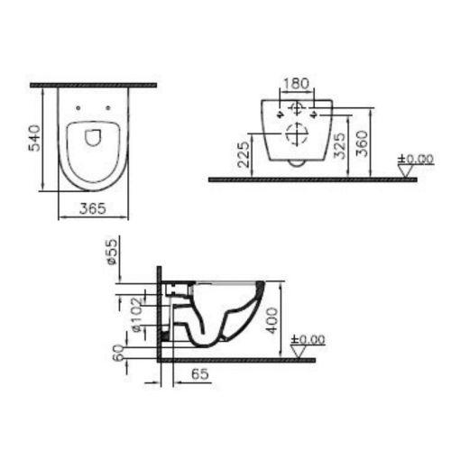 Pack WC suspendu Sento photo du produit Secondaire 1 L