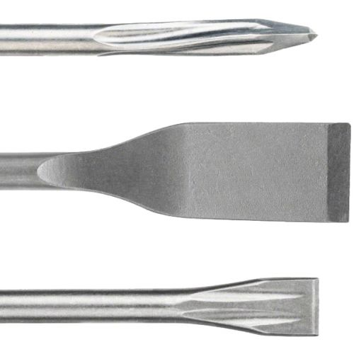 Set de 3 pièces burins SDS-plus (BURIN+PIC+LARGE) - BOSCH - 2607019159 pas cher