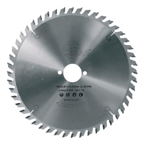 Lame diamètre 180 x 30 x 2,8 mm pour le bois - 24 dents - LEMAN - 964.180.3024 pas cher Principale L
