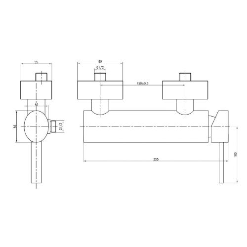 Mitigeur douche Azur - GARIS - R01-52035AE pas cher Secondaire 1 L