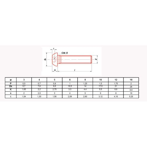 Vis métaux Ultima à tête bombée hexagonale creuse à embase classe 10.9 zingué ISO 7380 photo du produit