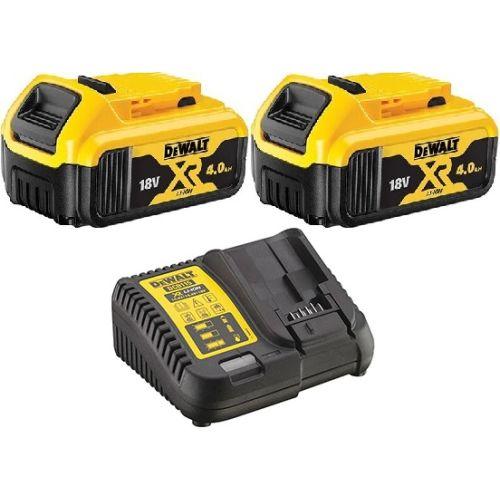 Pack 2 batteries Li-ion XR 18 V - 4 Ah Dewalt DCB182 + chargeur XR multi-voltage DCB115 photo du produit