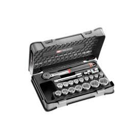 Coffret douilles 1/2'' 6 pans métriques 19 pièces Facom S.161-2P6 pas cher