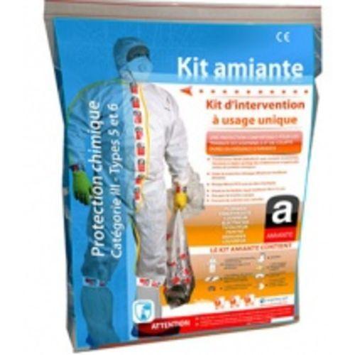 Kit amiante-accessoires et combinaison jetable cat III - Type 5/6 XL photo du produit