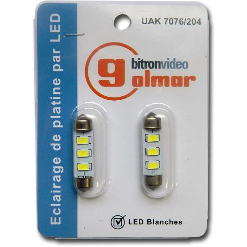 Lot de 2 LED blanche pour interphonie - GOLMAR - UAK 7076/204 pas cher Principale L