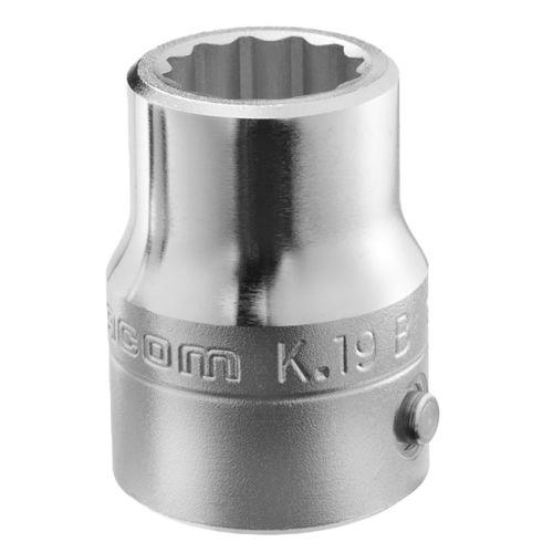 Douille 3/4'' 12 pans métriques diamètre 19mm longueur 51mm - FACOM - K.19B pas cher