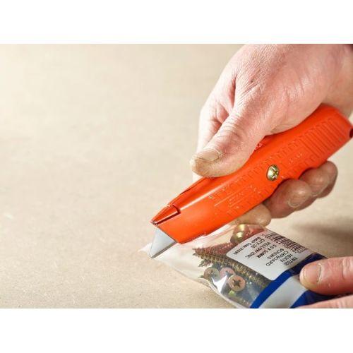 Étui de 10 lames de couteau sécurité à bouts arrondis - STANLEY - 2-11-987 pas cher Secondaire 3 L