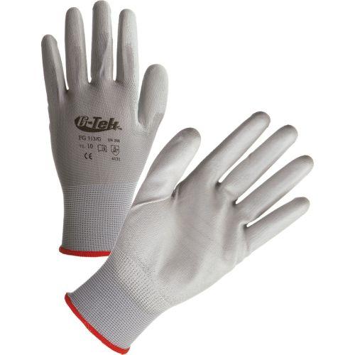 Gant tricoté polyester enduction polyuréthane gris photo du produit