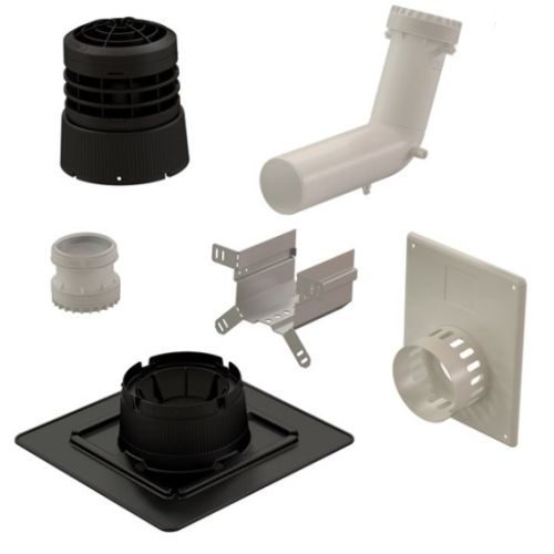 Kit 2 en 1 Ubbink B22p-B23p Chemilux Condensation D80 concentrique photo du produit