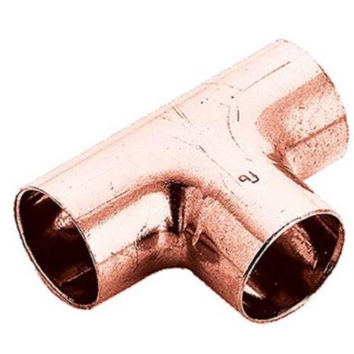 Té cuivre pied de biche  FFF cuivre D40  - FRABO - RV5131040040040 pas cher Principale L
