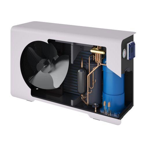 Chauffage piscine pompe à chaleur 10 KW avec housse et commande aéromax 2 - THERMOR - 297110 pas cher Secondaire 1 L