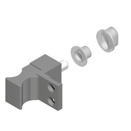 Arrêt de vantail pour coulissant aluminium photo du produit Secondaire 2 L