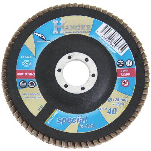Disque à lamelles inclinées Zirconium Hanger 125 mm photo du produit Principale L