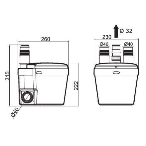 Pompe de relevage Watermatic VD110 photo du produit Secondaire 2 L