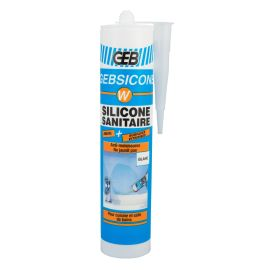 Mastic silicone sanitaire GEB Gebsicone W pas cher
