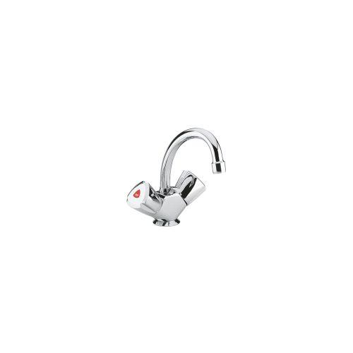 Mélangeur bidet/lave-mains ADRIA tube fixe - GROHE - 24440000 pas cher