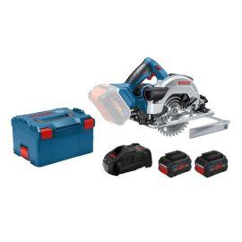 pScie circulaire sans-fil Bosch GKS 18V-57 G 18 V + 2 batteries 5,5 Ah + chargeur + coffret L-BOXX pas cher Principale M
