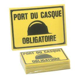 """Panneau éco """"Port du casque obligatoire"""" pas cher"""