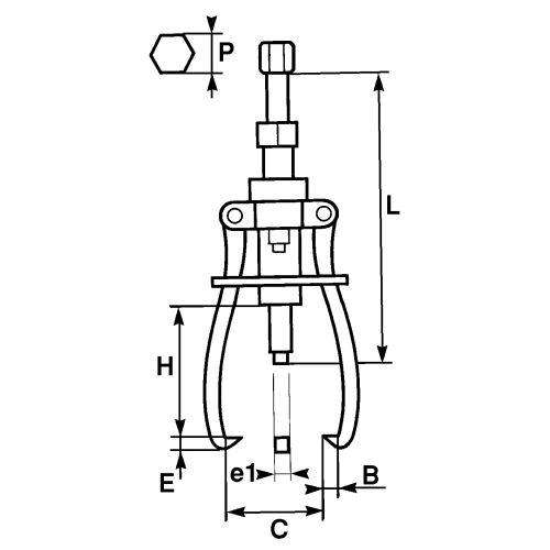 Extracteur à vis - SAM OUTILLAGE - 4851J3 pas cher Secondaire 2 L